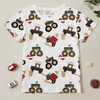 Trendy Truck Allover Print Tee