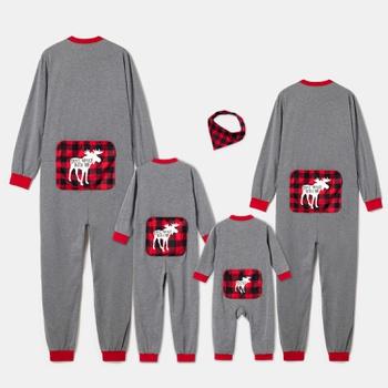 Family Matching Reindeer Christmas Onesies Pajamas Sets(Flame Resistant)