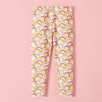 Care Bears  Rainbow Print Elasticized Cotton Leggings