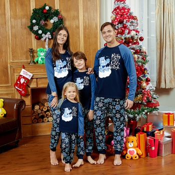 Care Bears Blue Snowflake Christmas Family Pajamas Set (Flame Resistant)