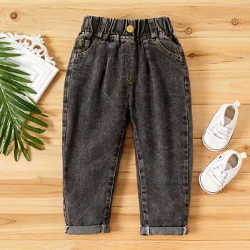 Toddler Boy Solid Turn Jeans