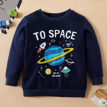 Fashionable Space Letter Print Sweatshirt