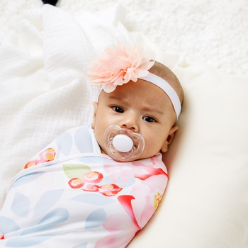 2- pcs Spring Summer Floral Newborn Baby Swaddle Blanket Infant Swaddle Wrap Headband Outfits Photograph 0-18 Month