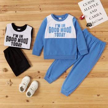 Toddler Boy Letter Print Sweatshirt & Pants Set