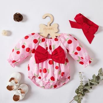 2-piece Cherry Print Set for Baby