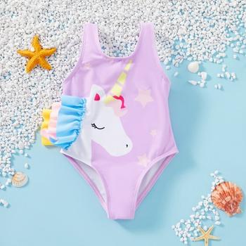 1pc Baby girl Unicorn Cute Swimwear