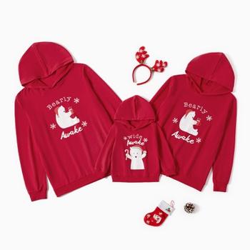 Merry Christmas Series Awake Letter Print Family Matching Hoodies Sweatshirts