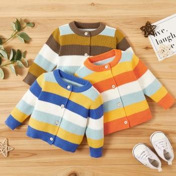 Baby Unisex Striped Sweaters
