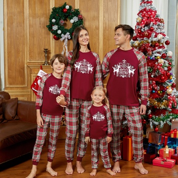 Mosaic Family Matching Reindeer Plaid Pajamas Set(Flame resistant)