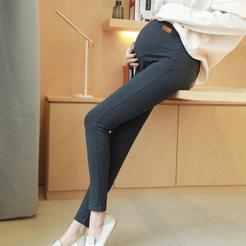 Casual Solid Maternity Belly Care Leggings