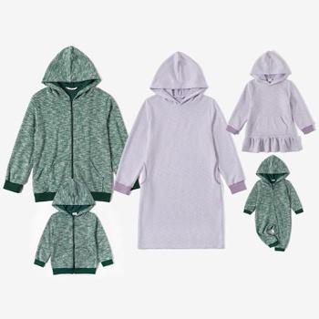 Mosaic Family Matching Casual Hoodies Sets