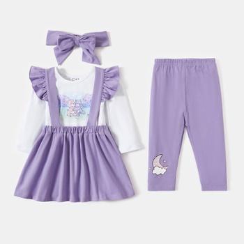 """Care Bears Baby Girl """" Share a Hug"""" Cotton Tee and Skirt & Bow & Pants Set"""