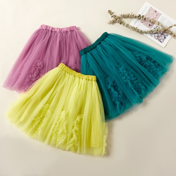 Beautiful Solid Mesh Bubble Skirts