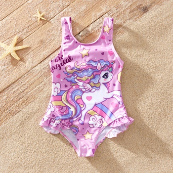 Beautiful Unicorn Love Allover Print Swimwear