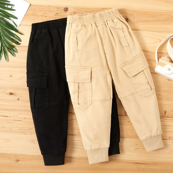 Baby / Toddler Boy Solid Pocket Casual Harem Pants