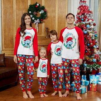 Smurfs Oh Deer Family Matching Christmas Pajamas Sets(Flame Resistant)