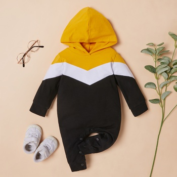 Baby Colorblock Hooded Jumpsuit