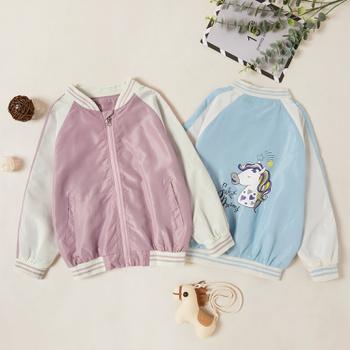 Beautiful Unicorn Print Zipper Jacket Coat
