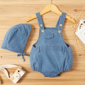 Baby Unisex Denim Overalls