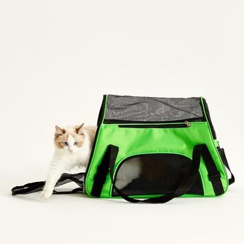Pet Bag Wear-Resistant Pet Out Backpack Portable Crossbody Bag Portable Breathable Plastic Net Bag