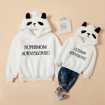 Animal Panda Pattern White Hoodies Sweatshirts