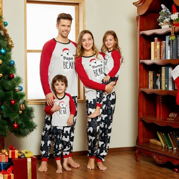 Christmas Bear Family Matching Pajamas Sets(Flame resistant)