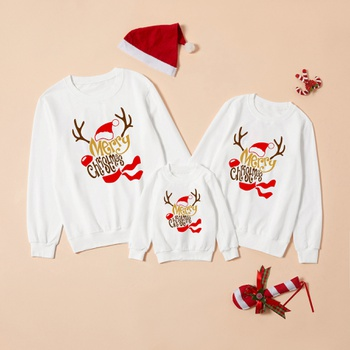 Merry Christmas Series White Family Matching Sweatshirts