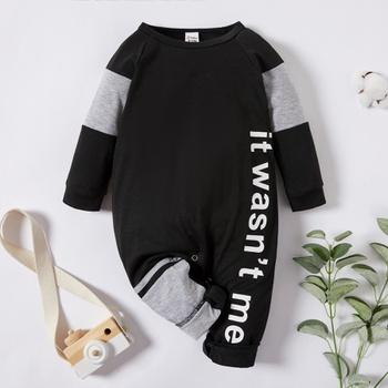 Baby Boy Letter Print Jumpsuits