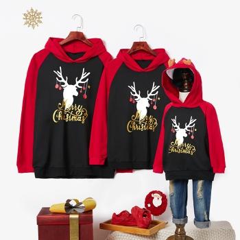 Merry Christmas Deer Series Hoodies Family Matching Sweatshirts