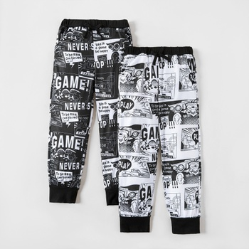 Trendy Comic Allover Print Sweatpants