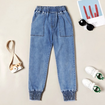 Trendy Denim Pocket Elasticized Jeans
