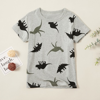 Stylish Dinosaur Allover Print Tee