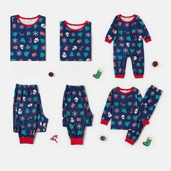 Christmas Snowman Print Family Matching Pajamas Sets (Flame Resistant)