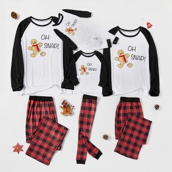 Christmas Gingerbread Man Print Family Matching Pajamas Sets