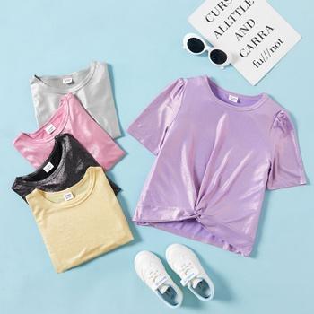 Kid Girl Multicolor Casual T-shirt