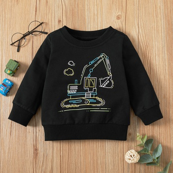 1pc Baby Unisex casual Vehicle Long-sleeve  Pullovers & Hoodies