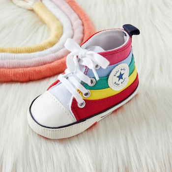 Baby / Toddler Rainbow Canvas Prewalker Shoes