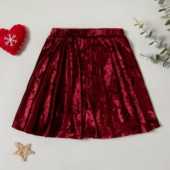 Beautiful Christmas Velet Elasticized Skirt