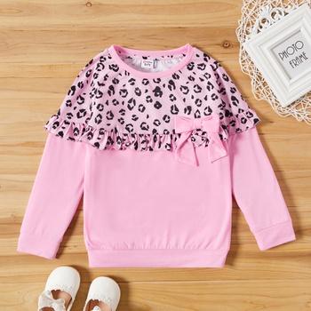Kid Girl Sweet Leopard Sweatshirt