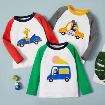 Baby / Toddler Boy Cartoon Car Print Long-sleeve Tee