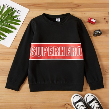 Kid Boy Superhero Sweatshirt