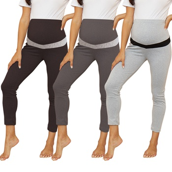 Cozy Solid Maternity Belly Care Leggings