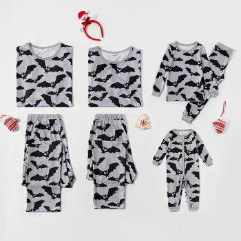 Family Matching Bat Print Pajamas Sets