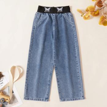 Kids Girl Butterfly Denim Jeans