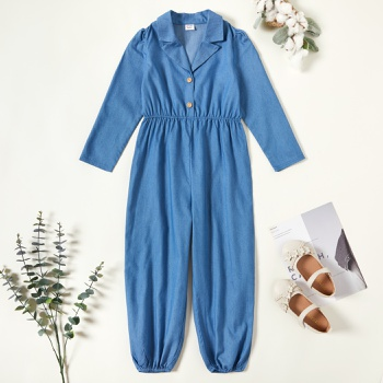Kid Girl Denim Jumpsuit