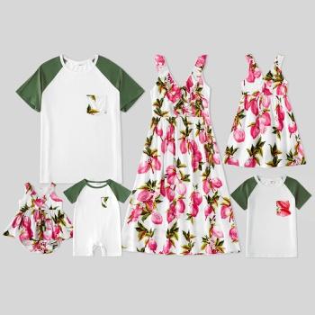 Mosaic Family Matching Lemon Print Sets (Tank Dresses - Rompers - Tops)