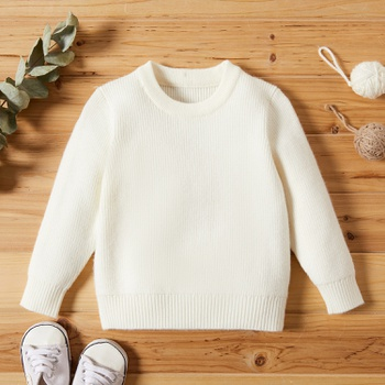Baby Girl casual Sweaters Solid Knitted Cotton Fashion Long Sleeve Infant Clothing Outfits