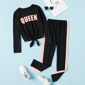 Girls Queen Top & Sweatpants Set