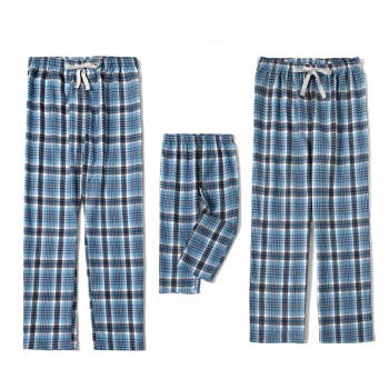 Mosaic Family Matching Cotton Plaid Casual Pants