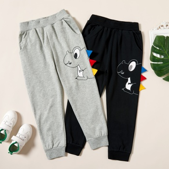 Trendy Dinosaur Print Elasticized Sweatpants